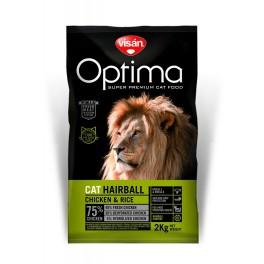 Optima On Cat Hairball Chicken & Rice